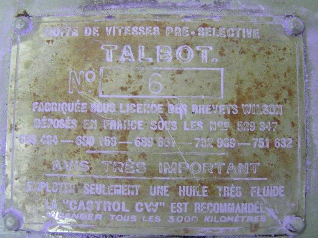 Talbot - Caixa preselectiva Wilson 10